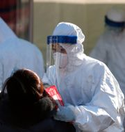 Virustestning i Seoul. Lee Jin-man / TT NYHETSBYRÅN