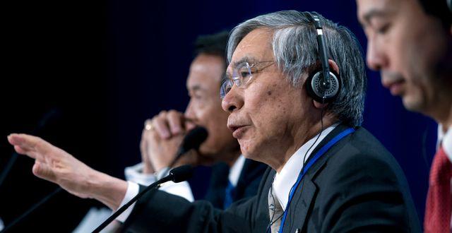Bank of Japans chef Haruhiko Kuroda.  Jose Luis Magana / TT NYHETSBYRÅN