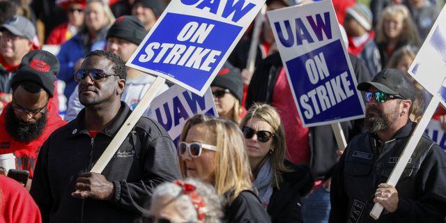 Strejkande GM-arbetare. Arkivbild. BILL PUGLIANO / GETTY IMAGES NORTH AMERICA