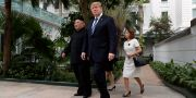 Trump och Kim i samband med mötet. Evan Vucci / TT NYHETSBYRÅN/ NTB Scanpix