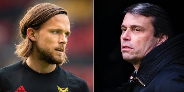 ÖFK:s lagkapten Tom Pettersson och Daniel Kindberg.  Bildbyrån