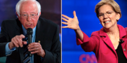 Bernie Sanders och Elizabeth Warren. TT/AP