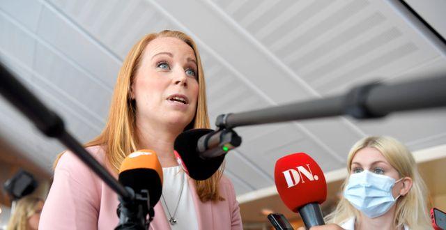 Annie Lööf, C:s partiledare.  Anders Wiklund/TT NYHETSBYRÅN / TT NYHETSBYRÅN