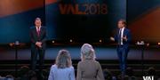 Stefan Löfven (S) och Ulf Kristersson (M). TV4