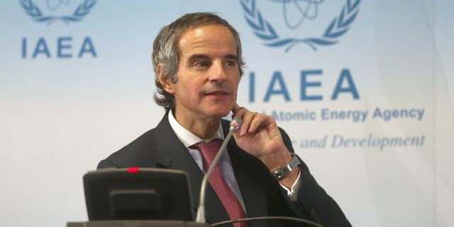 IAEA-chefen Rafael Grossi. Ronald Zak / TT NYHETSBYRÅN