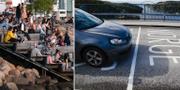 Solande svenskar/gräns mellan Norge och Sverige. TT