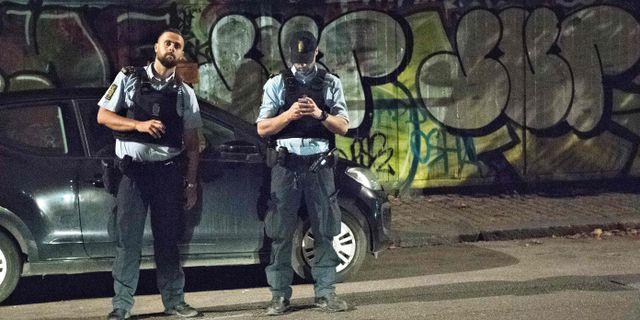 Arkivbild, polis i Christiania den 31 augusti 2016. JENS NOERGAARD LARSEN / Scanpix Denmark
