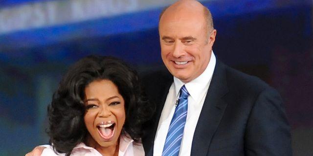 Oprah Winfrey och Phil McGraw. Arkivbild. Evan Agostini / TT NYHETSBYRÅN