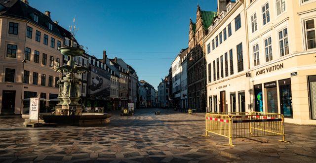 Ödsligt i Köpenhamn. Emil Helms / TT NYHETSBYRÅN
