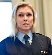 Linda H Staaf, chef för underrättelseenheten vid polisens Nationella operativa avdelning. Stina Stjernkvist/TT / TT NYHETSBYRÅN