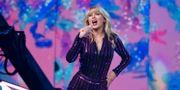 Taylor Swift uppträder på Amazons dag i juli, 2019.  Evan Agostini / TT NYHETSBYRÅN
