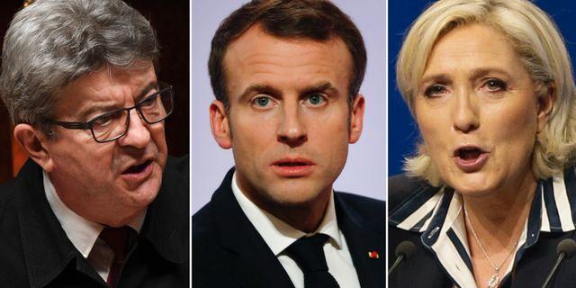 Mélenchon, Macron, Le Pen. TT