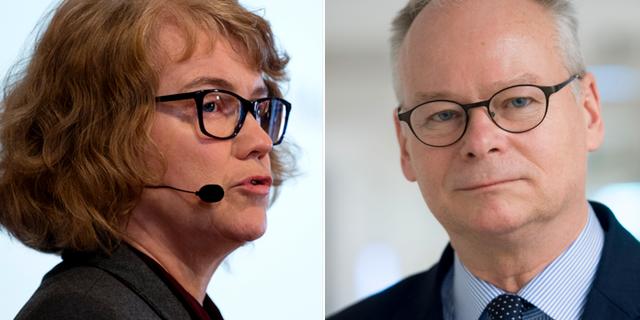 Marie Demker och Tommy Möller. Arkivbilder. TT