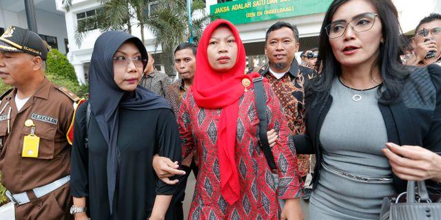 Baiq Nuril Maknun dömdes tidigare den här månaden till sex månaders fängelse.  Tatan Syuflana / TT NYHETSBYRÅN