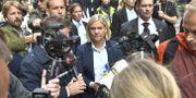 Magdalena Andersson på budgetpromenad. Claudio Bresciani/TT / TT NYHETSBYRÅN