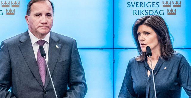 Stefan Löfven och Eva Nordmark. Tomas Oneborg/SvD/TT / TT NYHETSBYRÅN