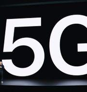 Apples vd Tim Cook presenterar nya Iphone-modeller med 5G-stöd. TT NYHETSBYRÅN