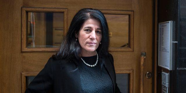 Sara Mohammad, ordförande för Glöm aldrig Pela och Fadime (GAPF). Noella Johansson/TT / TT NYHETSBYRÅN