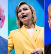 Carl Bildt, KD-ledaren Ebba Busch Thor och Jan Björklund. TT