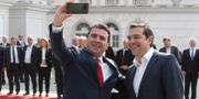 Zoran Zaev och Alexis Tsipras Boris Grdanoski / TT NYHETSBYRÅN