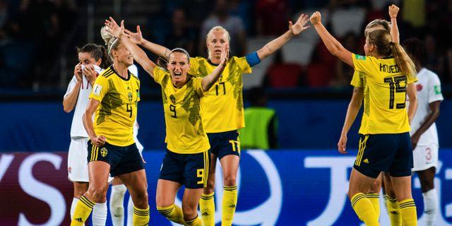 Bild från när Sverige mötte Kanada. SIMON HASTEGÅRD / BILDBYRÅN
