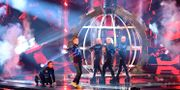 Gruppen Hatari framförde Islands bidrag i Eurovision Song Contest 2019. Henrik Montgomery/TT / TT NYHETSBYRÅN