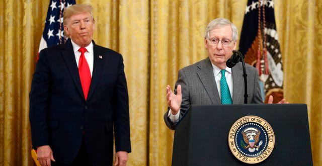 Donald Trump och Mitch McConnell. Patrick Semansky / TT NYHETSBYRÅN