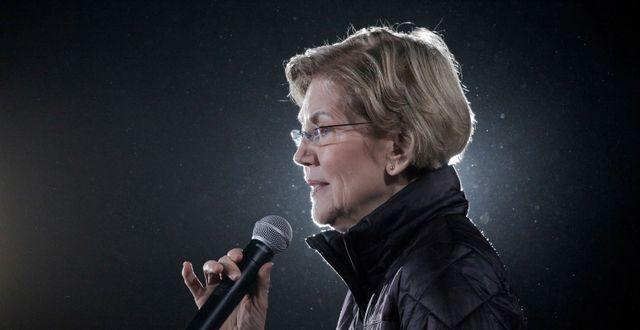 Arkivbild: Elizabeth Warren.  David Ryder / TT NYHETSBYRÅN