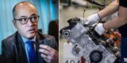 Arkivbilder: Frédéric Cho. Montering av motorer på Volvo Cars motorfabrik i Skövde.