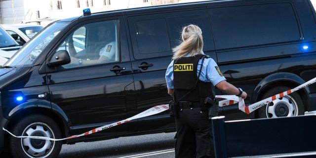 En dansk polis vid Kastrup/arkivbild.  Johan Nilsson/TT / TT NYHETSBYRÅN