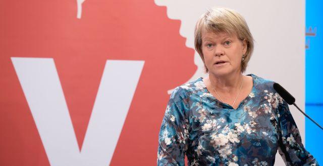 Ulla Andersson (V) Amir Nabizadeh/TT / TT NYHETSBYRÅN
