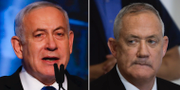 Benjamin Netanyahu och Benny Gantz. TT