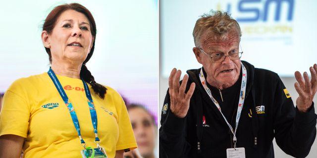Ulla Gustavsson och Björn Eriksson.  Bildbyrån.