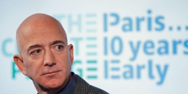 Amazons vd Jeff Bezos. Arkivbild. Pablo Martinez Monsivais / TT NYHETSBYRÅN
