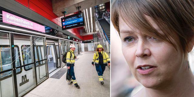 Invigningen av Köpenhamns nya metrolinje/Katrin Stjernfeldt Jammeh. TT.