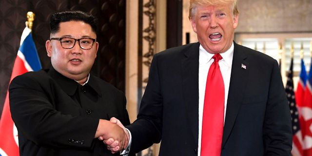 Bild från Trumps och Kims möte  SAUL LOEB / AFP