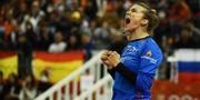 Nederländernas målvakt Tess Wester jublar. CHARLY TRIBALLEAU / AFP