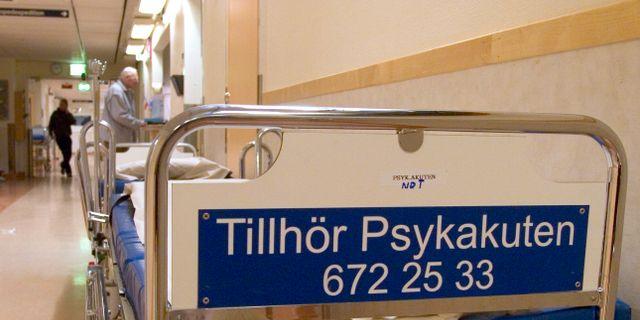 Sjukhussäng tillhörande Psykakuten. Arkivbild. ERIK G SVENSSON