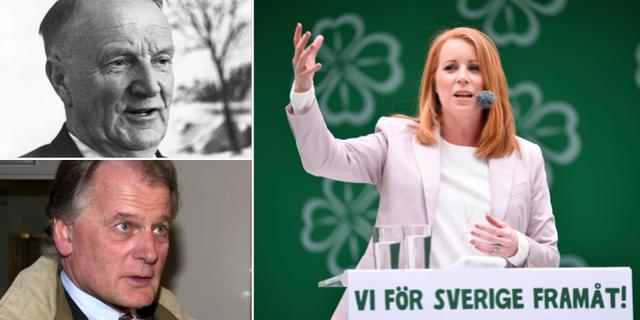 Gunnar Hedlund, Olof Johansson och Annie Lööf. TT