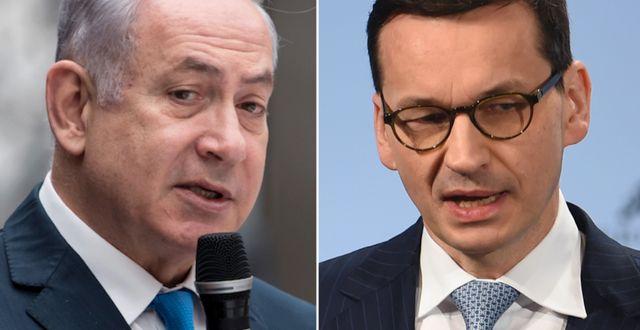 Benjamin Netanyahu/Mateusz Morawiecki. TT