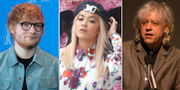 Ed Sheeran, Rita Ora och Bob Geldof. TT