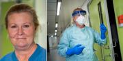 Mia Löf, ansvarig undersköterska på Danderyds sjukhus infektionsavdelning Johan Adelgren, Danderyds sjukhus