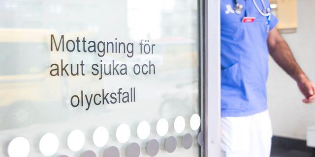 Ingång till akutmottagning på Sdersjukhuset i Stockholm. Isabell Höjman/TT / TT NYHETSBYRÅN