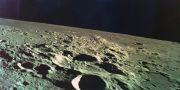 En bild tagen av den israeliska rymdfarkosten Beresheet. HANDOUT / TT NYHETSBYRÅN