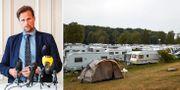 Carl-Johan Sonesson/camping på Österlen. TT