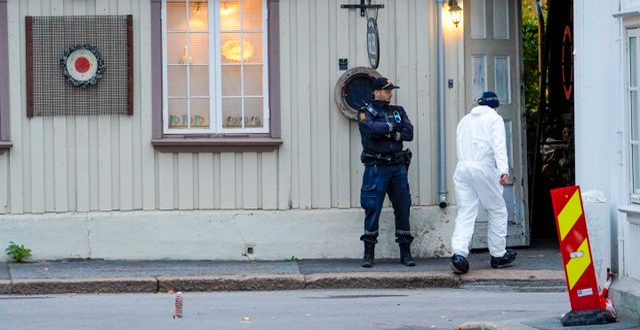 Polis i Kongsberg. Terje Bendiksby / TT NYHETSBYRÅN