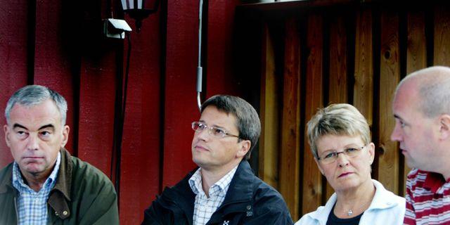 Maud olofsson ser en radd goran persson