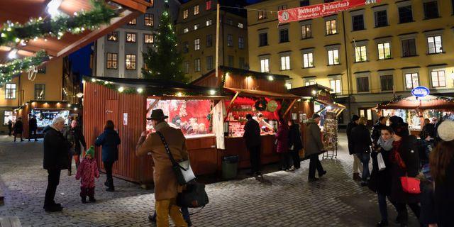 Bild från julmarknaden 2016. Henrik Montgomery/TT / TT NYHETSBYRÅN
