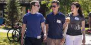 Mark Zuckerberg, längst till vänster.  Drew Angerer / GETTY IMAGES NORTH AMERICA