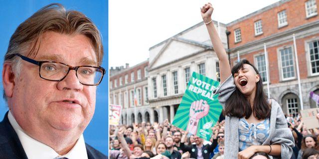 Finlands utrikesminister Timo Soini/efter folkomröstningen om abort på Irland. TT